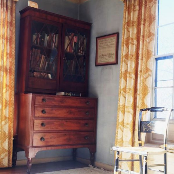 Vintage furnishings at the Loring Greenough House