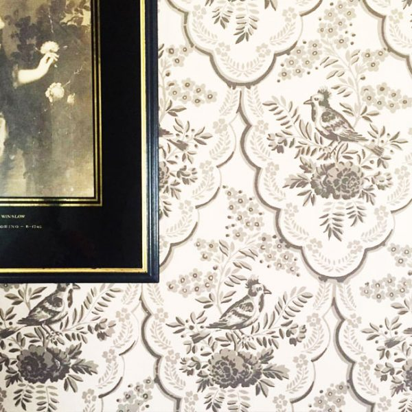 Wallpaper detail - Loring-Greenough House Collection