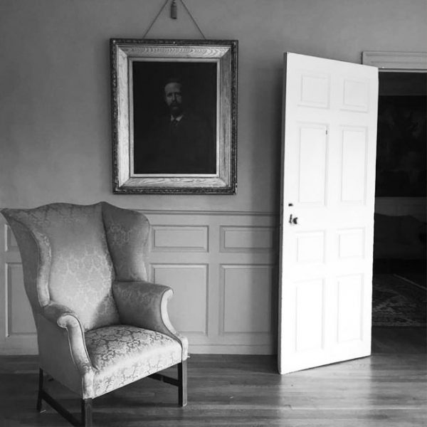 Chair and portrait in the Loring Greenough House collection