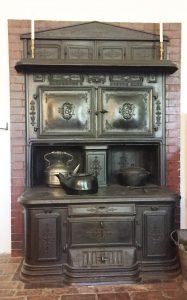 Magnificent cola-burning stove by the Cyrus Carpenter Company in the Loring-Greenough House collection