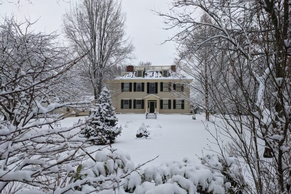 Loring Greenough House in the snow