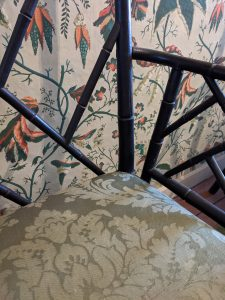 Antique chair inside the Loring Greenough House