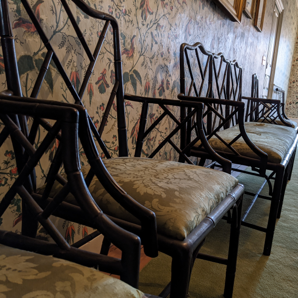 Antique chairs at the Loring Greenough House